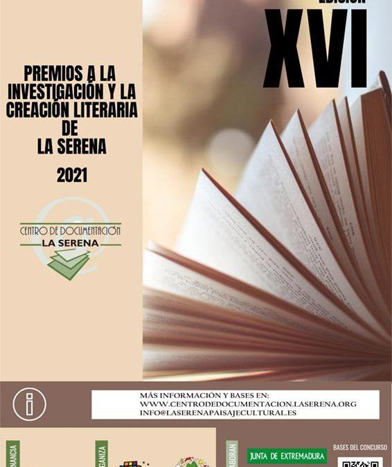 Convocada la XVI Edición de los Premios a la Investigación y Creación Literaria de La Serena